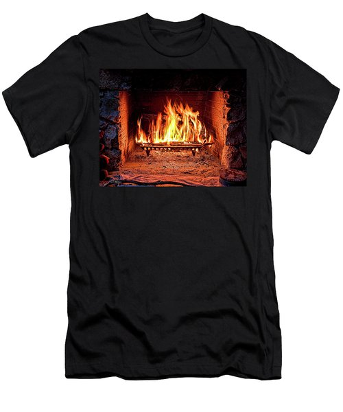 A Warm Hearth Men's T-Shirt (Slim Fit) by Christopher Holmes