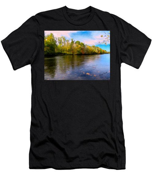 A Wide Scenic View Of Shetucket River. Men's T-Shirt (Athletic Fit)