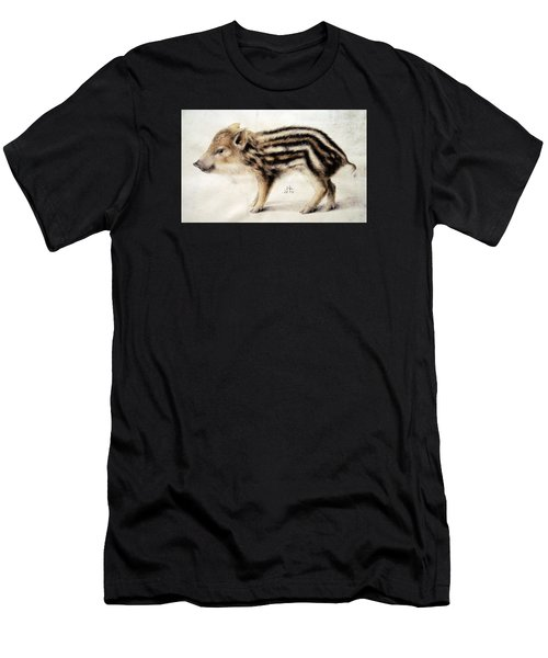 A Wild Boar Piglet Men's T-Shirt (Athletic Fit)