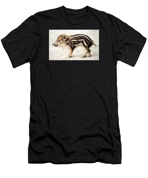 A Wild Boar Piglet Men's T-Shirt (Athletic Fit)