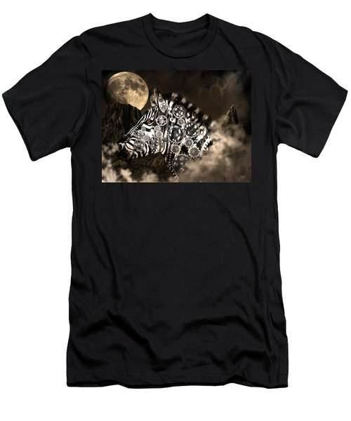 A Wild Steampunk Zebra Men's T-Shirt (Athletic Fit)