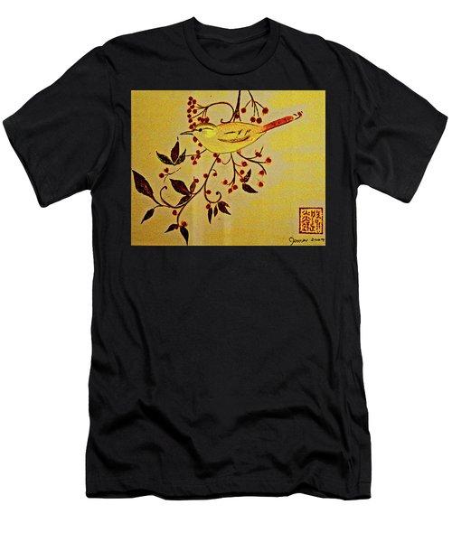 A Wren - In Pastel  Men's T-Shirt (Athletic Fit)