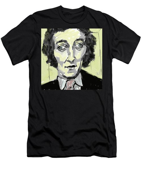 Men's T-Shirt (Athletic Fit) featuring the digital art A Young Marty Feldman by Jim Vance