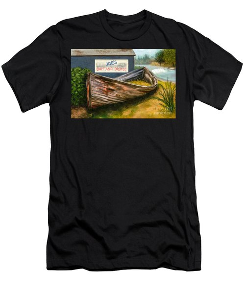 Painting Of Abandoned And Rotted Out Boat   Men's T-Shirt (Athletic Fit)
