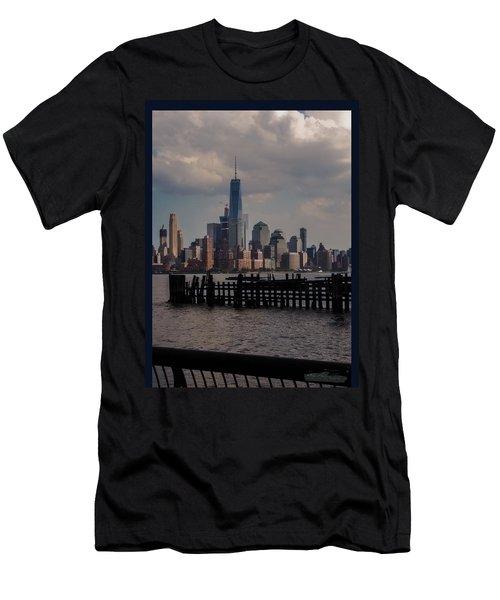 Abandoned Hoboken Pier Men's T-Shirt (Athletic Fit)