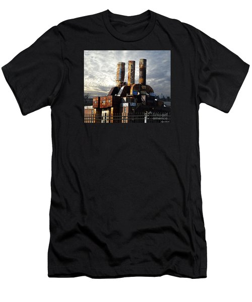 Abandoned Power Plant Men's T-Shirt (Athletic Fit)