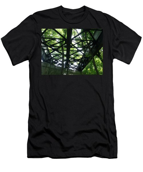 Abandoned Railroad Bridge Men's T-Shirt (Athletic Fit)