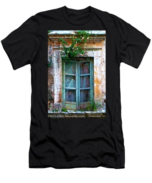Men's T-Shirt (Athletic Fit) featuring the photograph Abandoned Sicilian Sound Of Noto by Silva Wischeropp