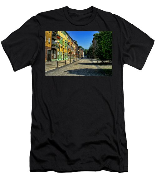 Men's T-Shirt (Slim Fit) featuring the photograph Abandoned Street by Mariola Bitner
