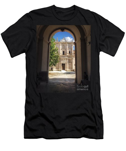 Abbey Of The Holy Spirit At Morrone In Sulmona, Italy Men's T-Shirt (Athletic Fit)