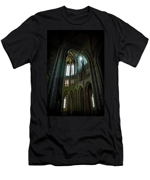 Abbey With Heavenly Light Men's T-Shirt (Athletic Fit)