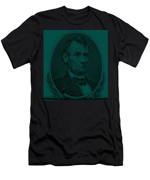 Men's T-Shirt (Athletic Fit) featuring the photograph Abe On The 5 Greenishblue by Rob Hans
