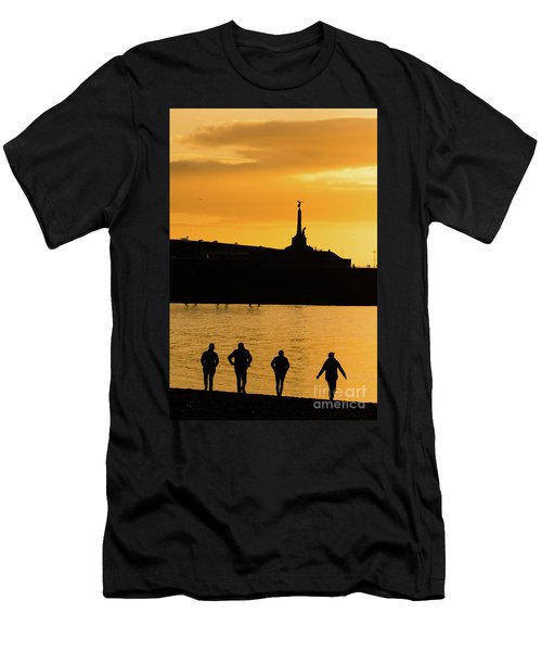 Aberystwyth Sunset Silhouettes Men's T-Shirt (Athletic Fit)
