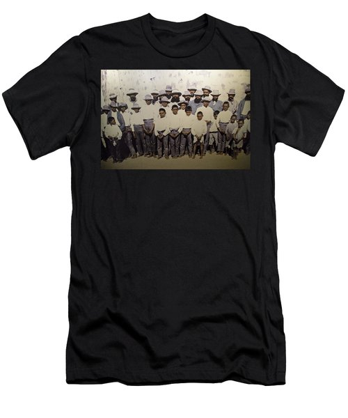 Men's T-Shirt (Athletic Fit) featuring the photograph Aboriginal Life 1901 To 1914 by Miroslava Jurcik