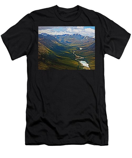 Men's T-Shirt (Slim Fit) featuring the painting Above The Arctic Circle by John Haldane