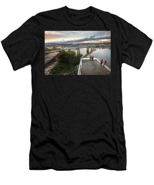Above The Bluff, Musuem View Men's T-Shirt (Slim Fit) by Steven Llorca