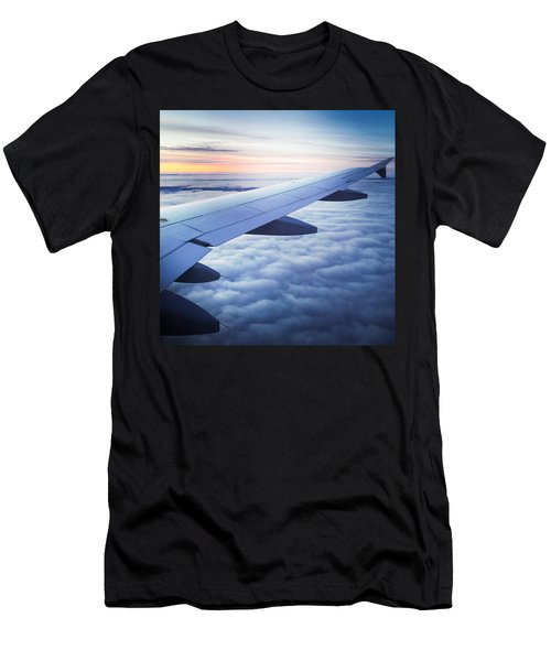 Above The Clouds 01 Men's T-Shirt (Slim Fit) by Matthias Hauser
