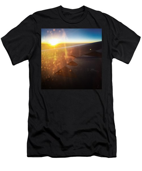 Above The Clouds 03 Warm Sunlight Men's T-Shirt (Slim Fit) by Matthias Hauser