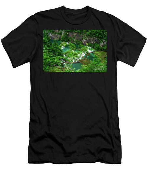 Above The Paths And Waterfalls At Plitvice Lakes National Park, Croatia Men's T-Shirt (Athletic Fit)