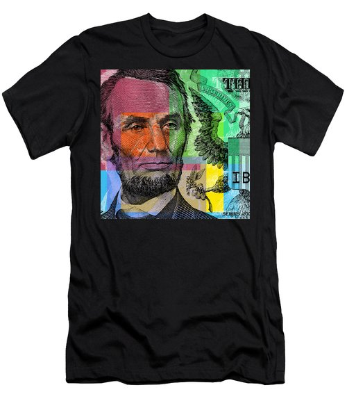 Abraham Lincoln - $5 Bill Men's T-Shirt (Athletic Fit)