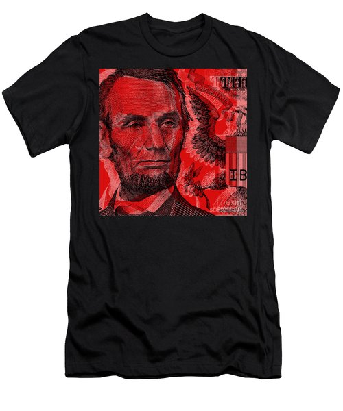 Abraham Lincoln Pop Art Men's T-Shirt (Athletic Fit)
