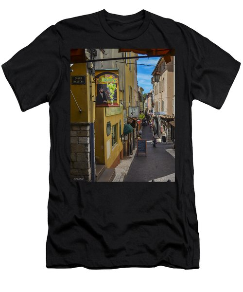 Men's T-Shirt (Slim Fit) featuring the photograph Absinthe In Antibes by Allen Sheffield