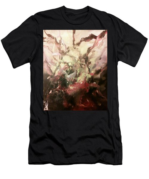 Men's T-Shirt (Slim Fit) featuring the painting Abstract #01 by Raymond Doward