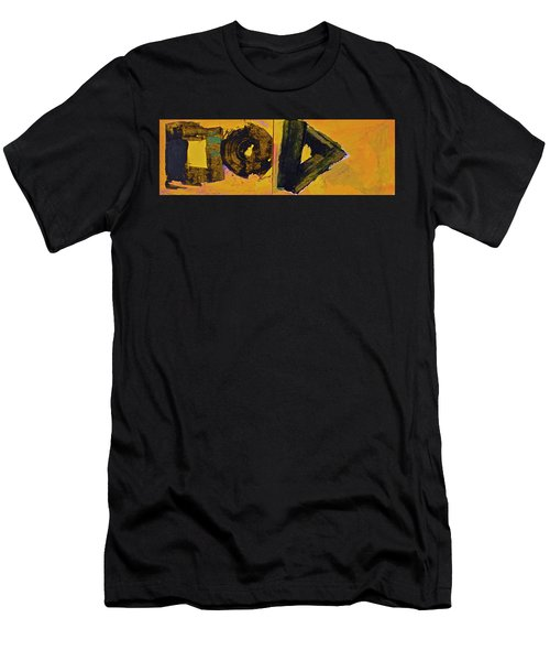 Abstract 2071-diptych Men's T-Shirt (Slim Fit)