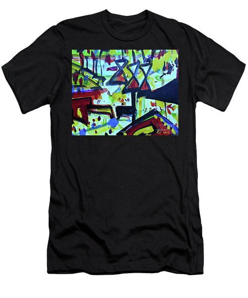 Abstract-27 Men's T-Shirt (Athletic Fit)