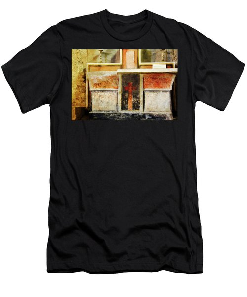 Men's T-Shirt (Athletic Fit) featuring the photograph Abstract Altar by Rasma Bertz