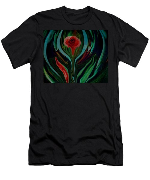 abstract Art The Rose A Symbol Of Love  Men's T-Shirt (Athletic Fit)