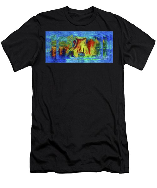 Abstract Artgo With The Flow Men's T-Shirt (Athletic Fit)