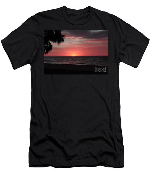 Abstract Beach Palm Tree Sunset Men's T-Shirt (Athletic Fit)