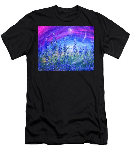 Abstract Bluebonnets Men's T-Shirt (Athletic Fit)