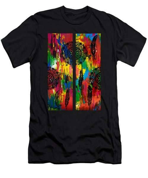 Abstract Boho Design - Diptych By Nikki And Kaye Menner Men's T-Shirt (Athletic Fit)
