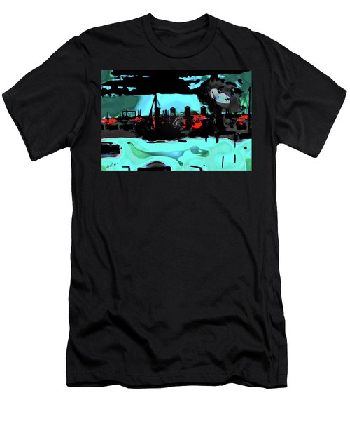 Abstract Bridge Of Lions Men's T-Shirt (Athletic Fit)
