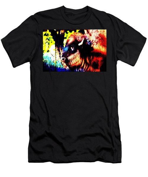 Abstract Buffalo Men's T-Shirt (Athletic Fit)