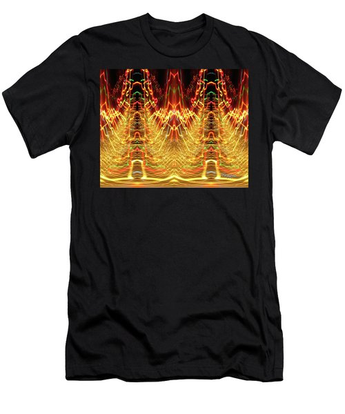 Abstract Christmas Lights #175 Men's T-Shirt (Athletic Fit)