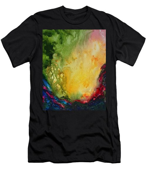 Abstract Color Splash Men's T-Shirt (Athletic Fit)