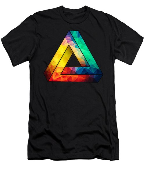 Abstract Color Wave Flash Men's T-Shirt (Athletic Fit)