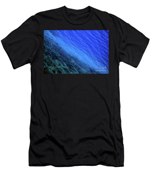 Abstract Crater Lake Blue Water Men's T-Shirt (Athletic Fit)