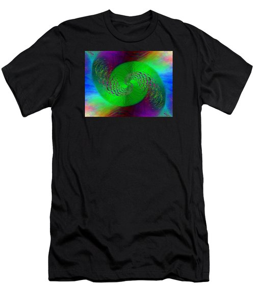 Men's T-Shirt (Slim Fit) featuring the digital art Abstract Cubed 378 by Tim Allen
