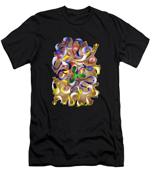 Abstract Digital Art - Jamurina V2 Men's T-Shirt (Slim Fit) by Cersatti
