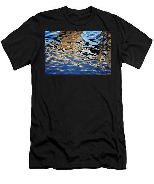 Abstract Dock Reflections I Color Men's T-Shirt (Athletic Fit)