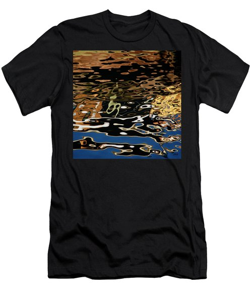 Abstract Dock Reflections II Color Sq Men's T-Shirt (Athletic Fit)