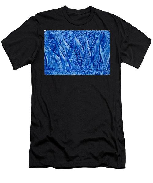 Abstract Encaustic Blues Men's T-Shirt (Athletic Fit)