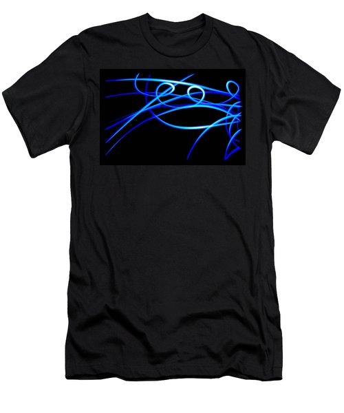 Abstract Energy Flow Men's T-Shirt (Slim Fit) by Bruce Pritchett