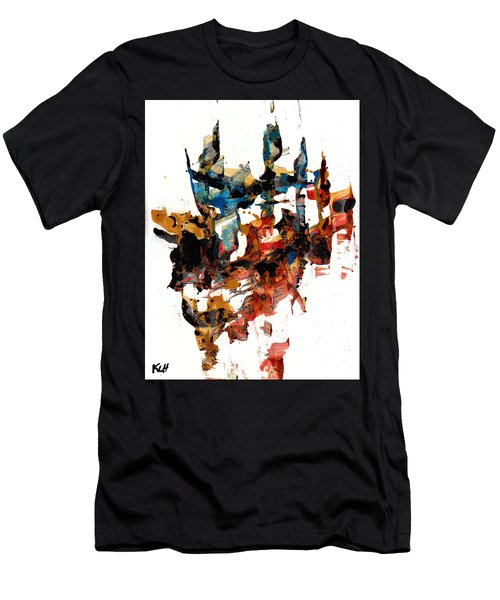 Abstract Expressionism Painting Series 750.102910 Men's T-Shirt (Slim Fit) by Kris Haas