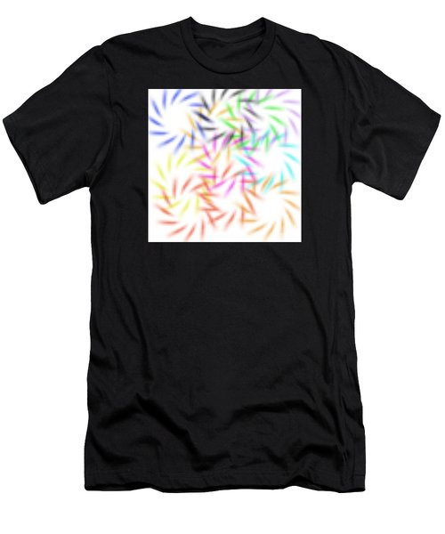 Abstract Fireworks Men's T-Shirt (Athletic Fit)