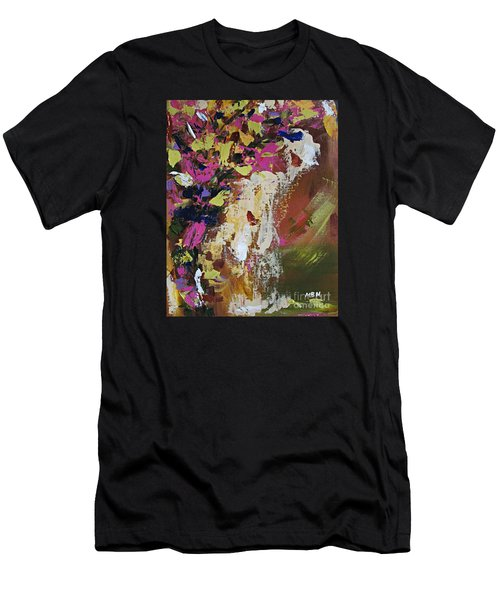 Abstract Floral Study Men's T-Shirt (Athletic Fit)